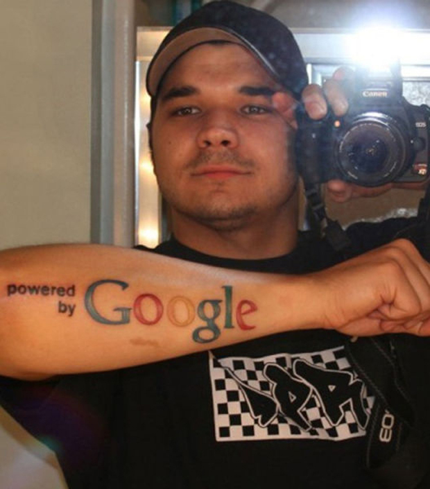 Tattoo of google fan