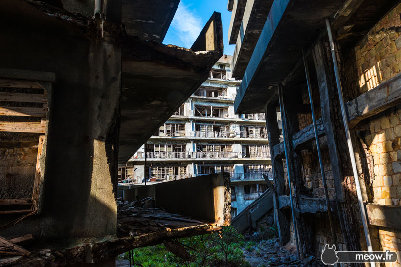 40 years old Japanese Abandoned Island Of Gukanjima-Hashima