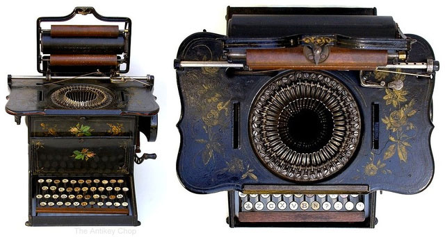 Another great example of a typewriter Sholes and Glidden (Remington No. 1)