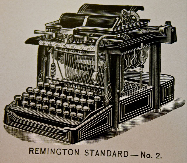 1878 Remington # 2--Historic evolution of typewriter