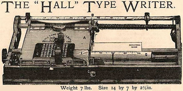 1881: The Hall Type Writer (1881)
