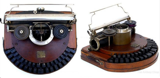 1884 Hammond 1--evolution of typewriters