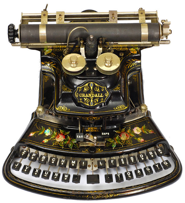 1885: The new model Crandall Typewriter