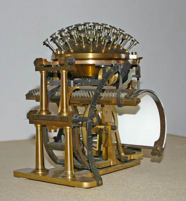 The Hansen Writing Ball--The evolution of the type writing machine
