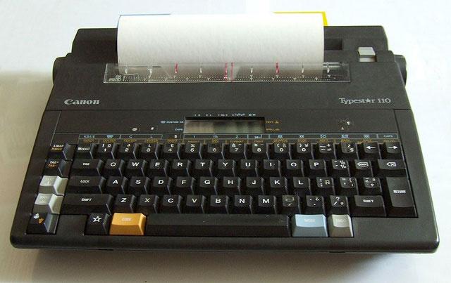 Late 1980s:  Canon Typestar 110