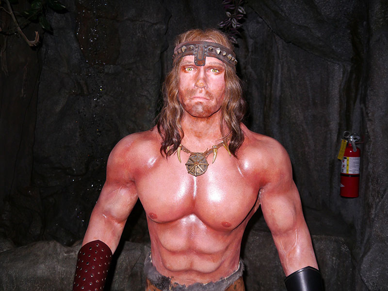 Arnold Schwarzenegger at Hollywood Wax Meuseum