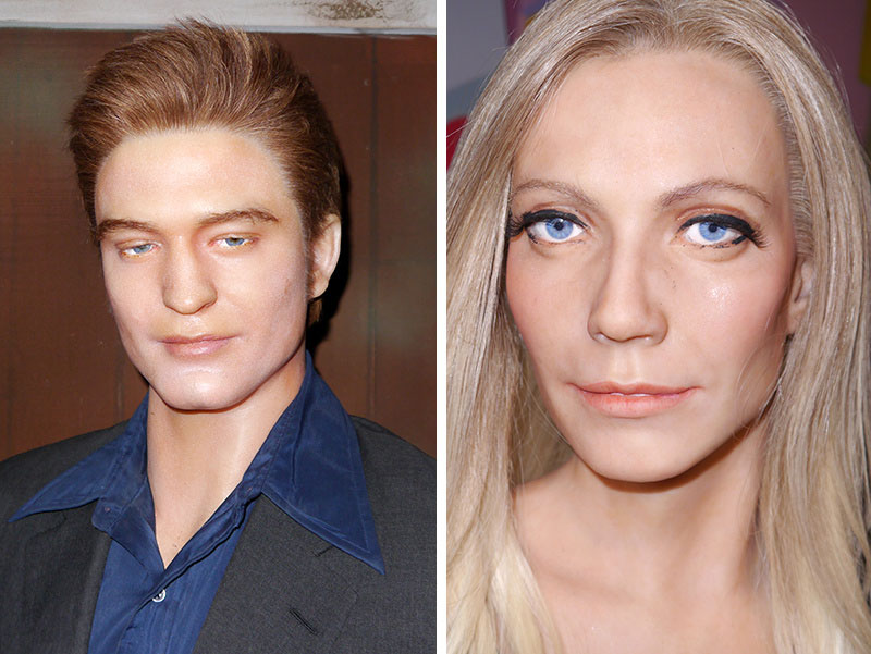 Robert Pattinson & Gwyneth Paltrow at Hollywood Wax Meuseum