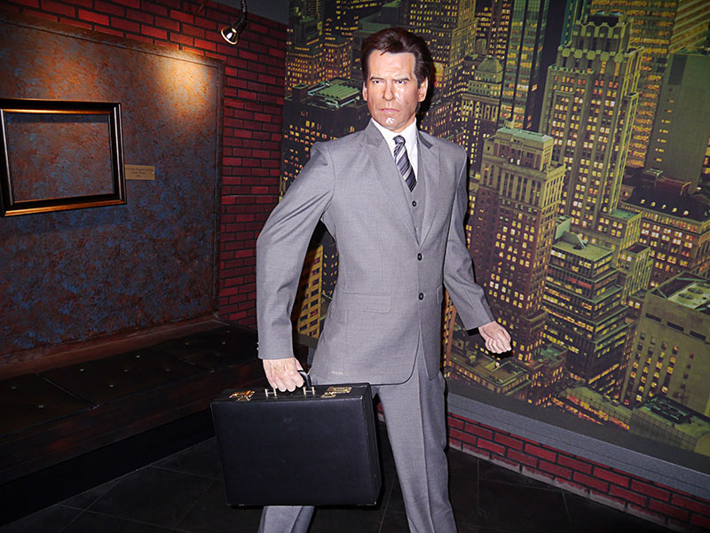 Pierce Brosnan at Hollywood Wax Meuseum