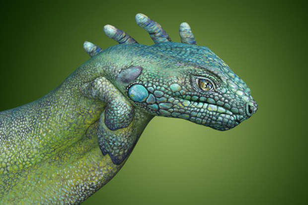 Iguana1-Ultra Realistic Hand Painting
