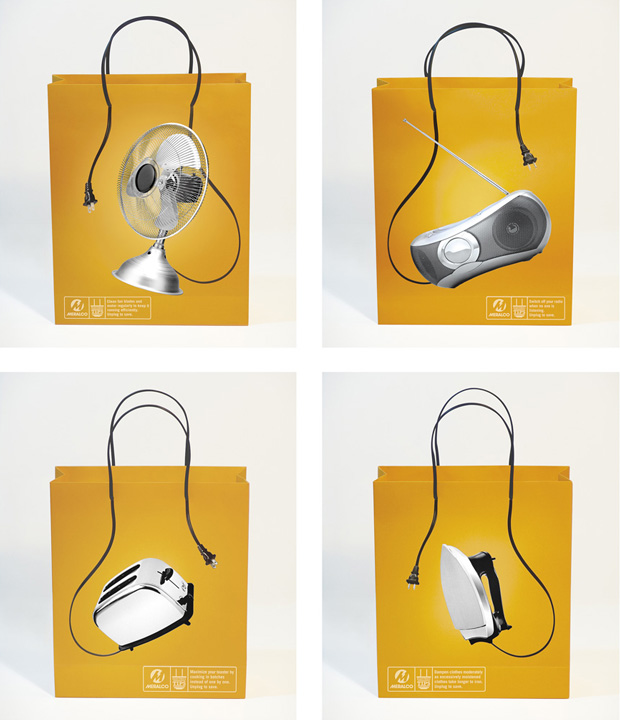 Meralco Power Saving Advertising Bags