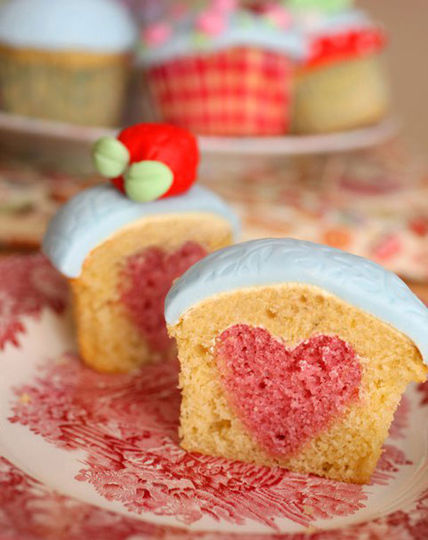 Heart shaped pan cake