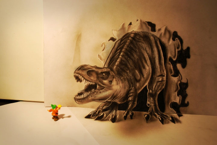 Realistic 3D optical illusions