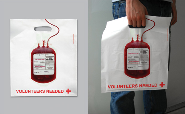 Red-Cross-Creative Bag Advertisements