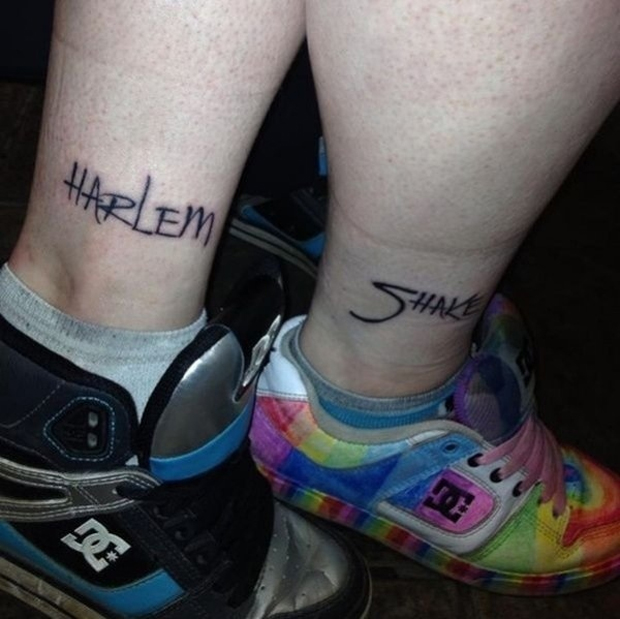 The Harlem Shake tattoo