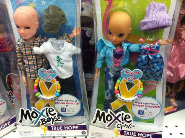 Touching Moments-bald dolls for cancer patients