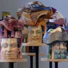 Amazing Sculptures Made From Books (Photo Gallery)