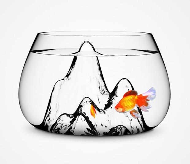 Pot shape aquarium