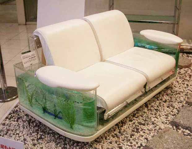 Aquarium inside a couch