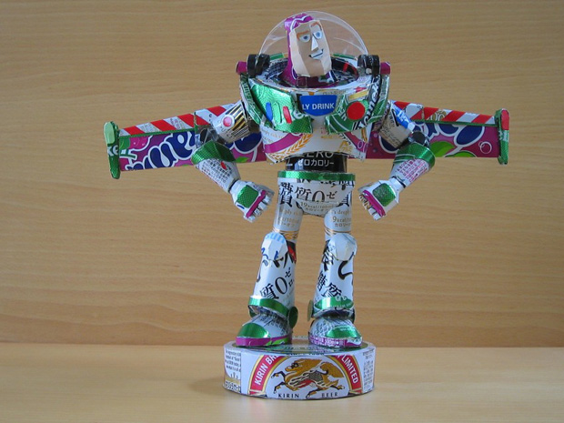 Amazing Can Art--bazu from toystory made from cans