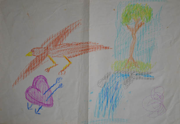 development of an artist drawings from childhood to the youth