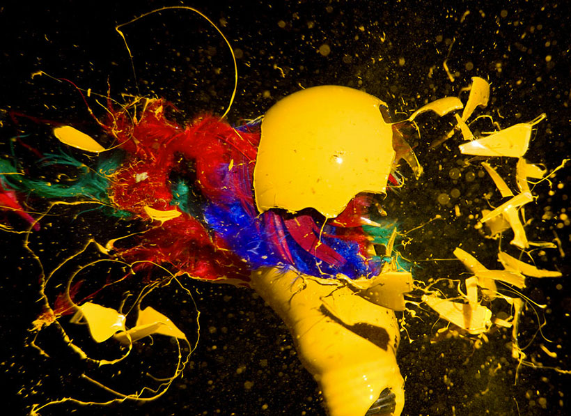 Marvelous Patterns Of Colours Captured During Explosions