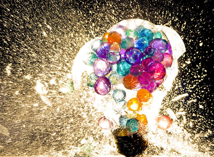 Explosion Of Colourful Bulb 6