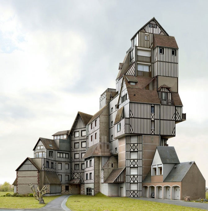 Surreal And Weird Houses Designs Using Photo-montage
