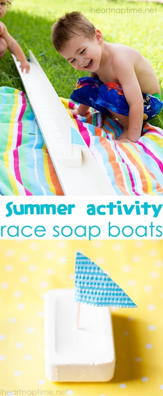 Summer  activity race soap boats