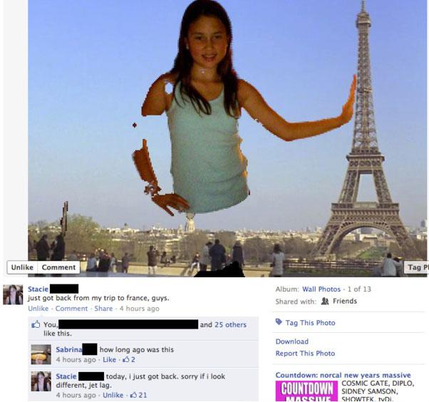 Funny tourist