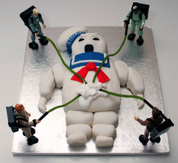 ghostbusters design cake