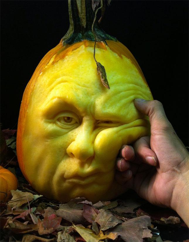 Artist Ray Villafane MakesThe Most Funny Halloween Pumpkins