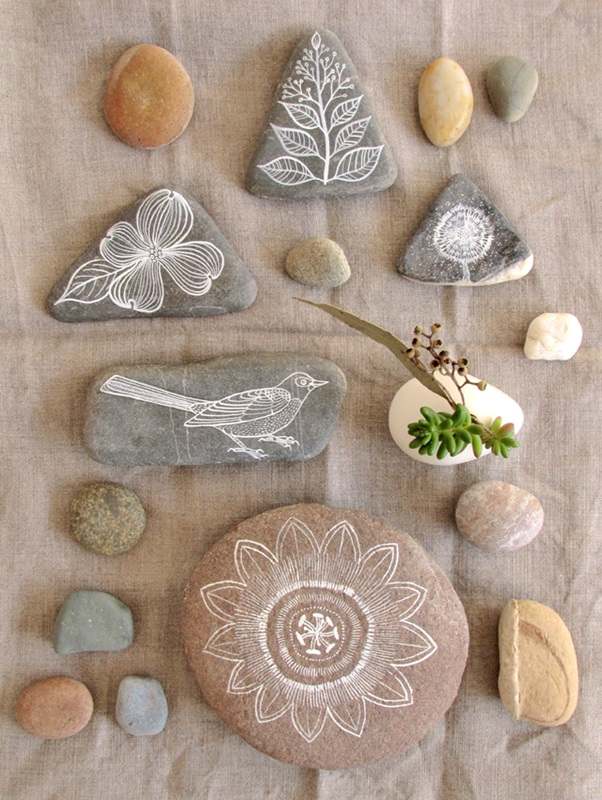 Make art with things that make your children close to nature