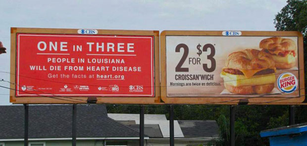 Most Funny Ad Placements--Obesity Fatalities and junk food Ads