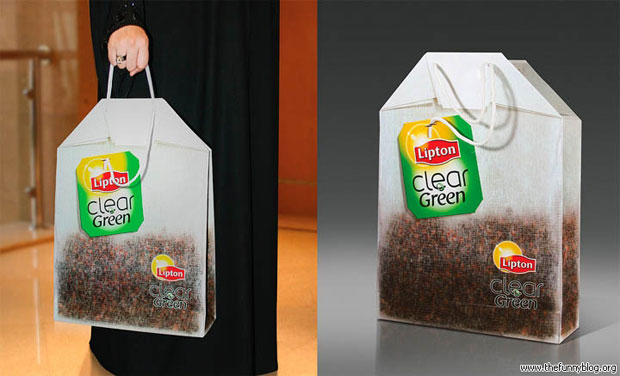 lipton green bag funny-Creative Bag Advertisements