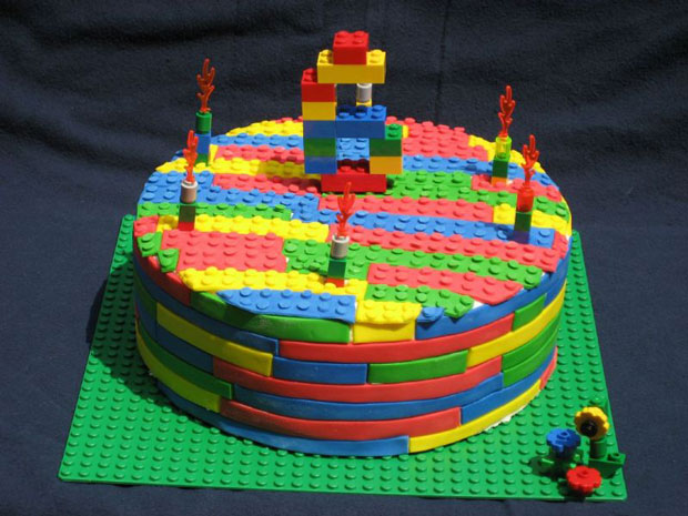 normal lego design cake