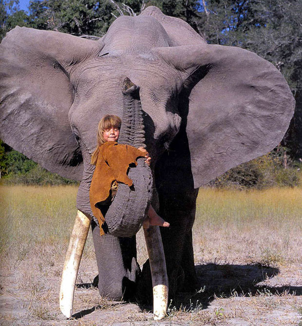 Tippi Degre--girl with an elephant