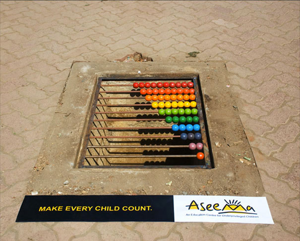 ASEEMA CHARITABLE TRUST: Education for street children-Amazing Ads That Merge With Their Surroundings