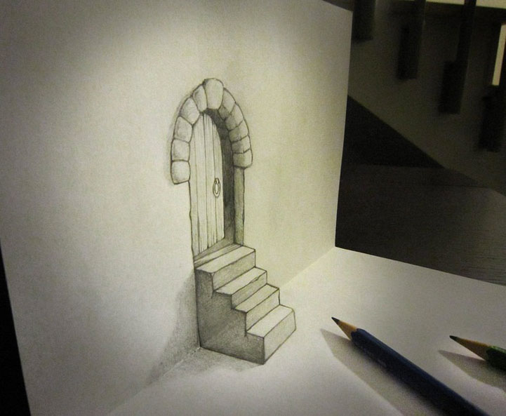 Ingenious Life Like 3D Objects Seem To Escape The Drawing