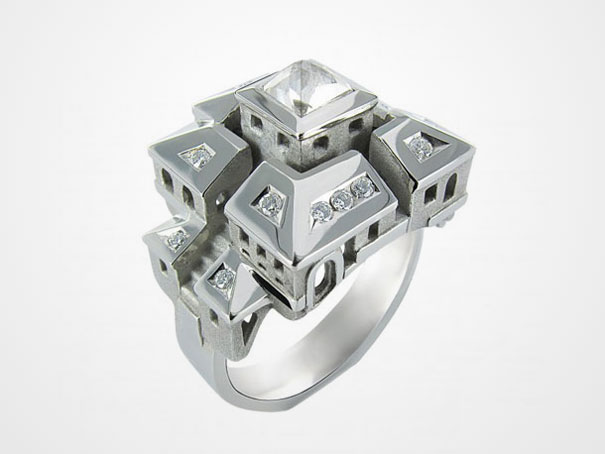 Amazing and unique Ring design With A house