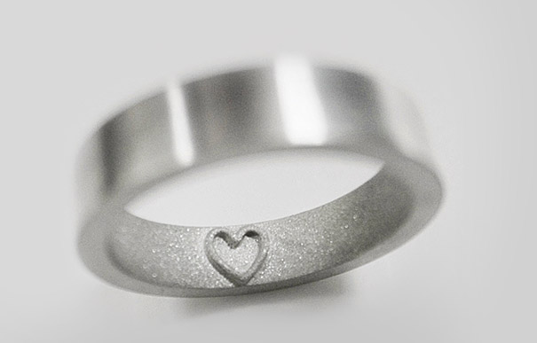 Amazing and unique Ring design With A Heart