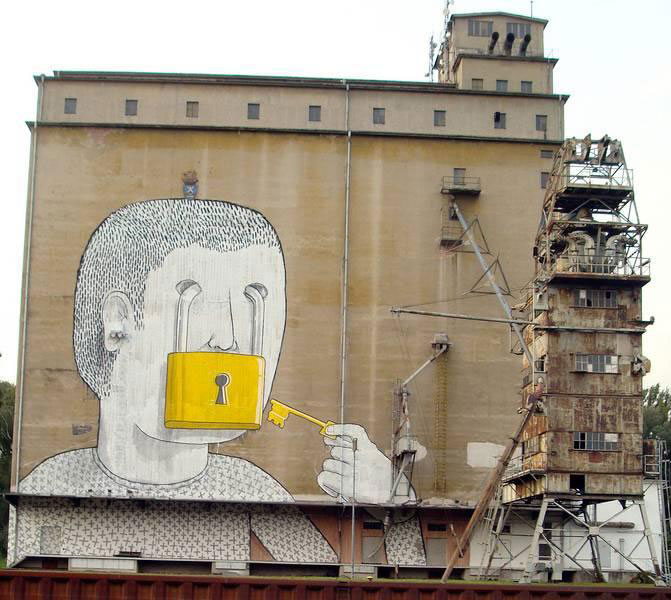 BLU: An Urban Artist Who Makes Gigantic Paintings on building facades
