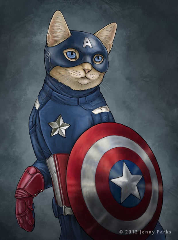 Capcat-Cats-Play-As Your-Favorite-Superheros