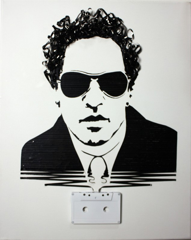 Erika Iris Simmons: Celebrity Faces Made Using Cassette Tapes