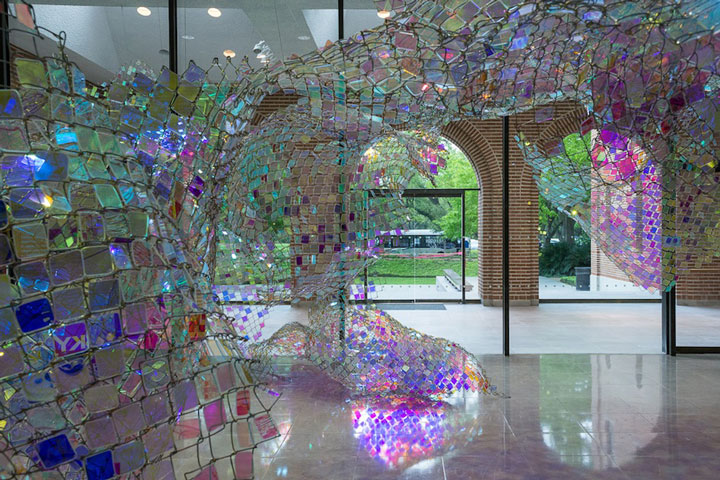 Chain Link Fencing as Art by Soo Sunny Park