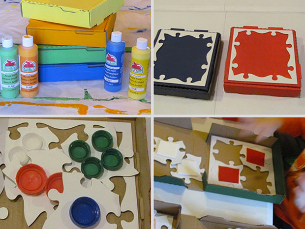 Cool ideas to reuse Pizza box: A Puzzle Box