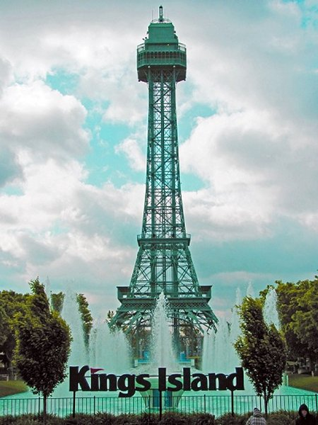 Copy Of The Eiffel Tower-Kings Island Amusement Park, Mason, United States