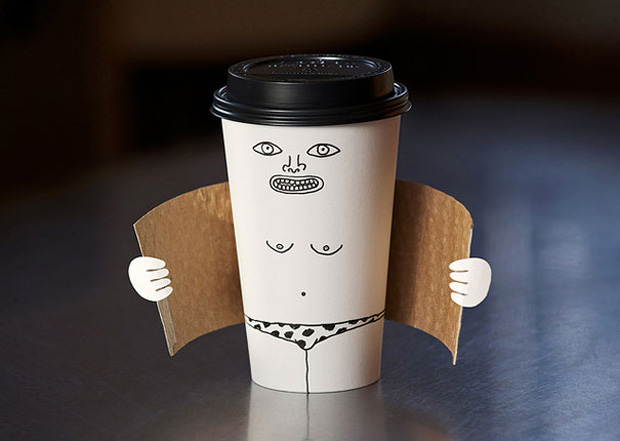 Exhibitionist coffee cup-Food And Vegetables Turned Into Crazy Works Of Art