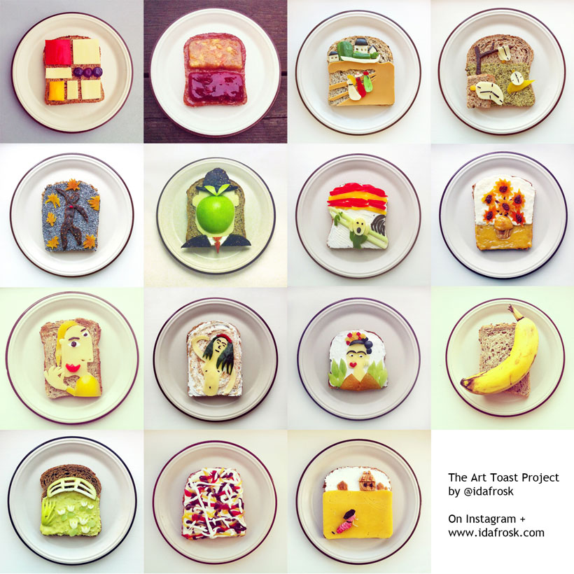 Famous Paintings Made by Ida Frosk On Toast