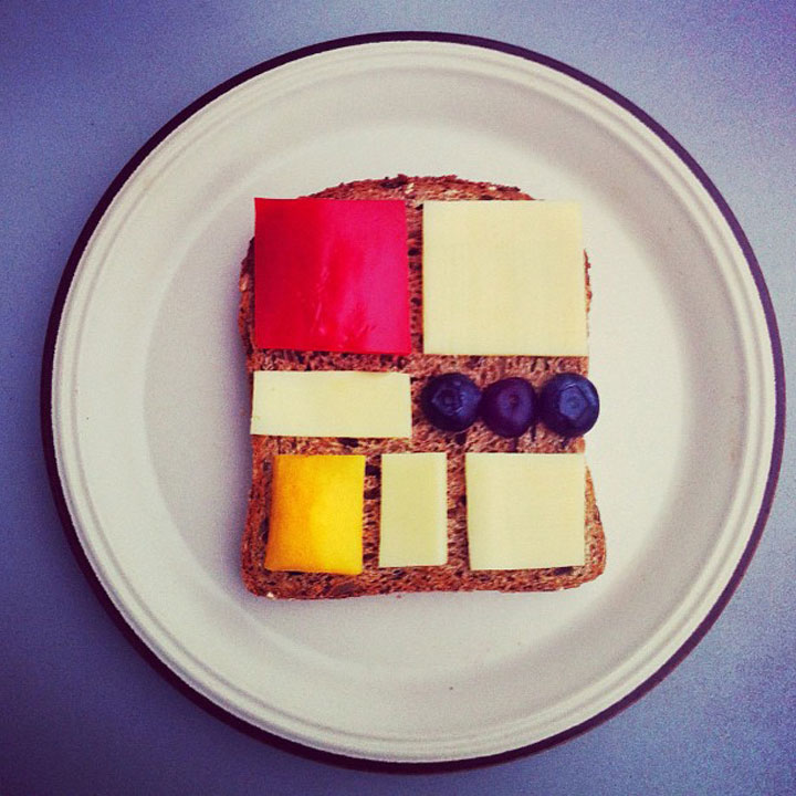Inspired by Piet Mondrian Made by Ida Frosk On Toast