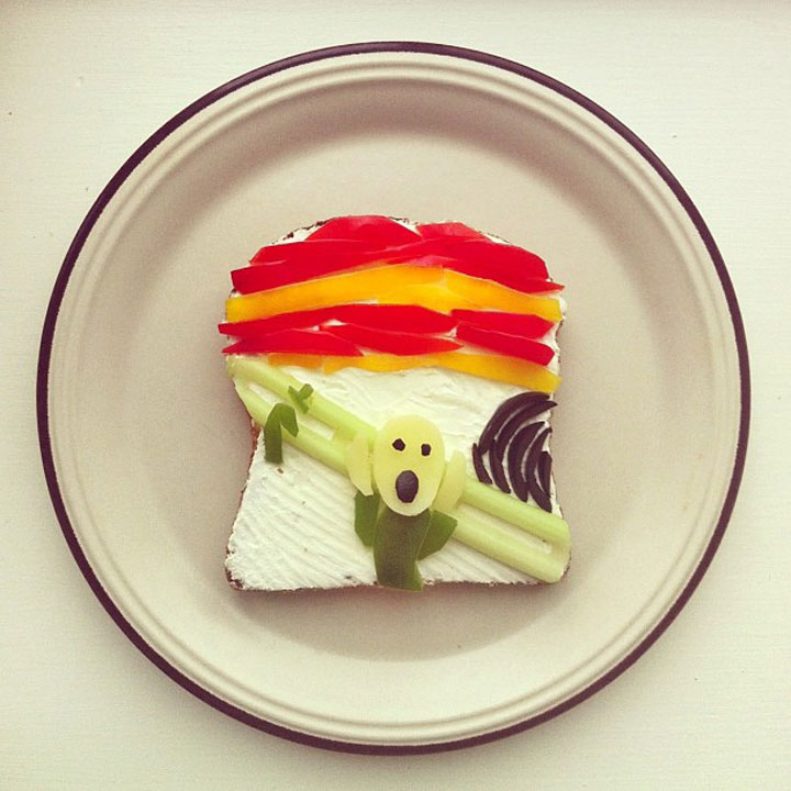 Edvard Much: The screamPainting Made by Ida Frosk On Toast